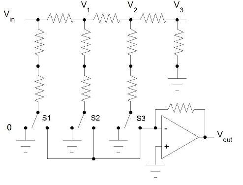 dac ladder, wiring diagram